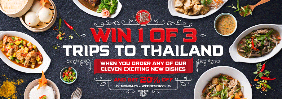 Win 1 of 3 Trips to Thailand