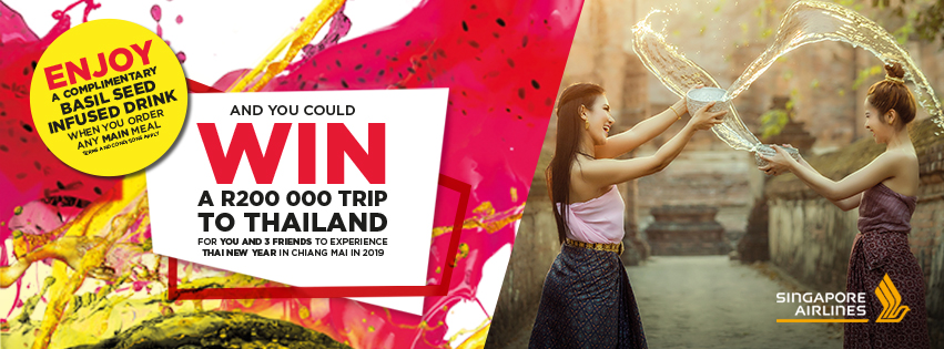 WIN a trip through Thailand to experience thai new year with 3 friends